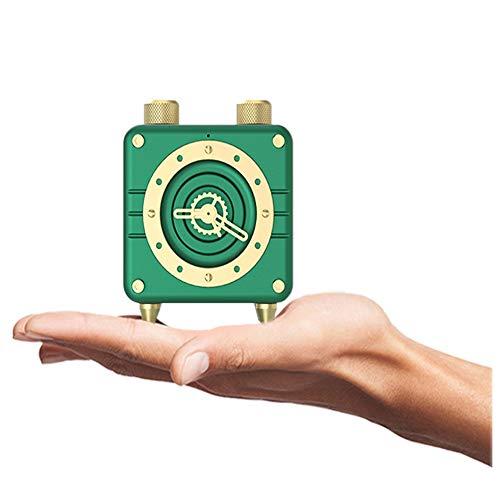 TISESIT INDOOR Retro Bluetooth Speaker Vintage Radio : Reloj Retro De Radio FM, Radio FM Bolsillo,Volumen Alto, Conexión Inalámbrica Bluetooth 4.2, Tarjeta TF Y Reproductor De MP3,Retro Green