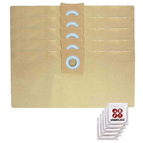 Spares2go - 5 bolsas de polvo para aspiradora Titan 16L 20L 30L 40L + pestañas de ambientador