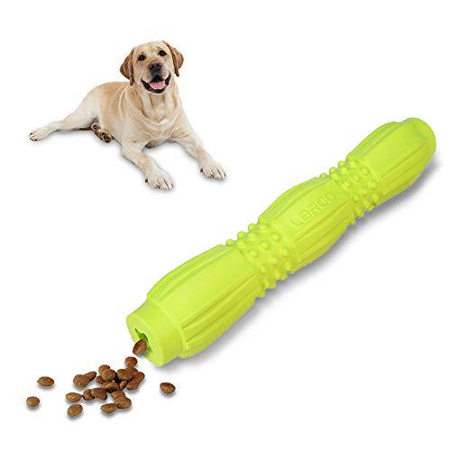 LaRoo Interaktives Spielzeug für Hunde, Hunde Snack Spielzeug Futter Stöcke Hundespielzeug Beißfest Kauspielzeug für Kleine, Mittlere und Große Hundeße (Grün)