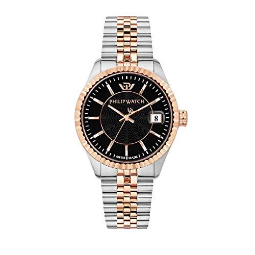 Philip Watch Reloj para Hombre, Colección Caribe, Swiss Made, de Acero, PVD Oro Rosa - R8253597070