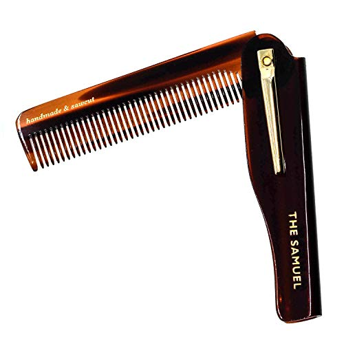 Kent 20T Limited Edition All Coarse Hair Detangling Comb Wide Teeth Pocket Comb for Thick Curly Wavy Hair. Hair Detangler Comb for Grooming Styling Hair, Beard and Mustache, Saw-Cut. Made in England