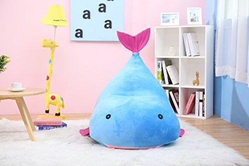 Ballena azul niños puf para niños puf con relleno–vendedor de
