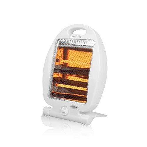 Stufa Elettrica Alogena 800W Oscillante Portatile per la casa con 2 elementi riscaldanti