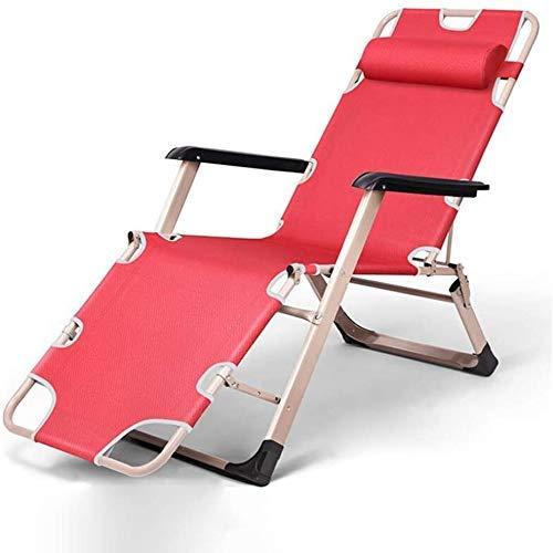 WJXBoos Silla Plegable de Camping, sillas Plegables de Gravedad Cero Tumbona reclinable para Acampar en el jardín con Patio en la Playa