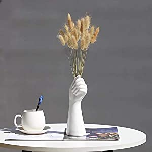 Hands Ceramic White Vase Decor Blender No Plant Flower 1pc Hydroponics Cemetery Stand Unique Vases Office Table