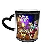 Groot Tree Man Infinity Gauntlet Tazza da caffè in ceramica che cambia colore novità famiglia amanti amici ufficio e casa regalo di salute