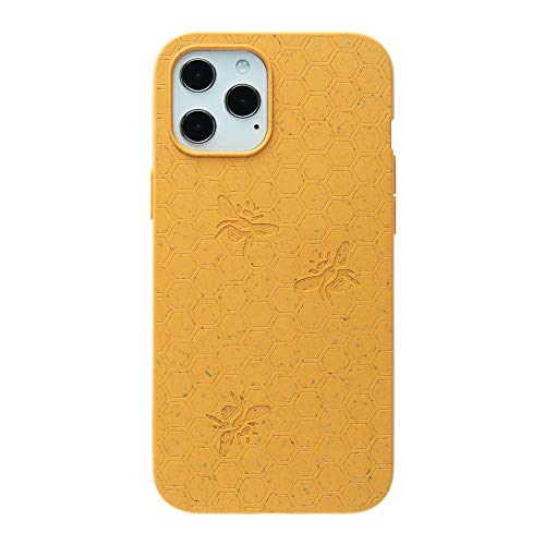 Pela: Phone Case for iPhone 12 Pro Max - 100% Compostable and Biodegradable - Eco-Friendly - Made from Plants (Classic Honey Bee)