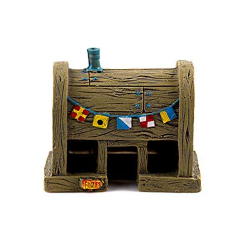Casa de piña de Bob Esponja para adorno de pecera, diseño de Bob Esponja de dibujos animados, castillo de piña para decoración subacuática del hogar