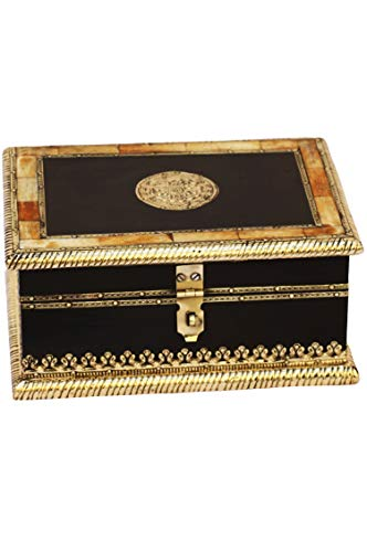 2er SET Orientalische kleine Aufbewahrungsbox mit Deckel Babuna 22cm groß | Orientalischer Schmuckkästchen für Mädchen und Damen zur Schmuckaufbewahrung | Marokkanische Schatulle Box aus Holz - 5