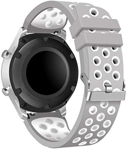 Chainfo Repuesto de Correa de Reloj de Silicona Compatible con Garmin Vivoactive 4, Caucho Fácil de Abrochar para Relojes y Smartwatch (22mm, Pattern 2)
