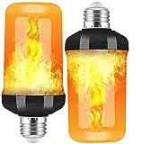 swonuk Pack de 2 Bombillas 4W E27 Bombillas de Efecto de llamas LED con Sensor de Gravedad para Decoración de Navidad /Bar/Fiesta