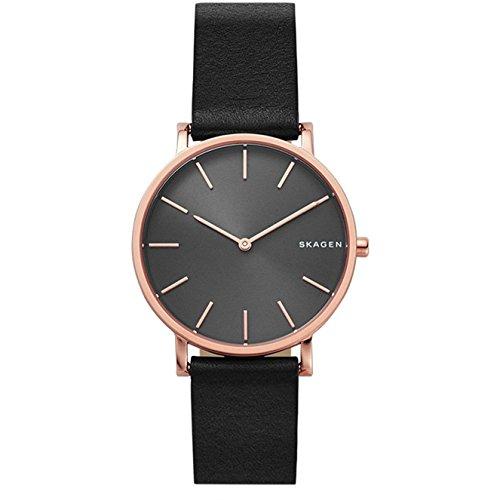 Skagen Herren Analog Quarz Uhr mit Leder Armband SKW6447
