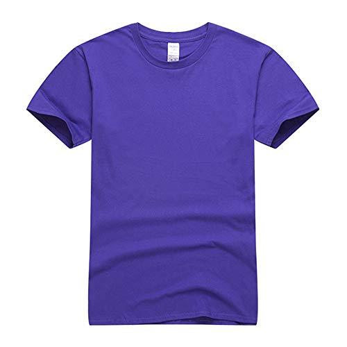 DREAMING-Camiseta De Manga Corta De Algodón Peinado para Niños Camiseta De Cuello Redondo Juvenil Ropa para Niños 765C Sports Royal Blue 120CM
