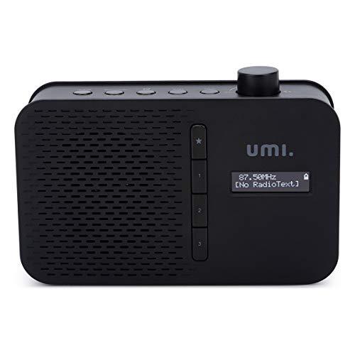 Amazon Brand - Umi Digitales Radio DAB FM, Tragbares Radio mit Bluetooth, LCD-Display Weckzeiten Sleeptimer Snooze Funktion, Netzstecker oder 4xAA Batterie