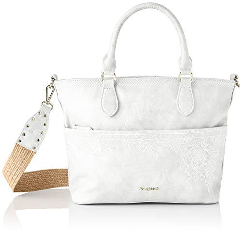 Desigual PU Hand Bag, Mano Mujer, blanco, U