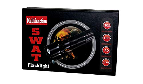 Ultra Helle SWAT Profi Cree Hi-Power LED Chip Taschenlampe mit Zoom + Zubehör: Akku 4200 mAh, 2 x Ladekabel, Schlaufe, Batteriefach Adapter NEU