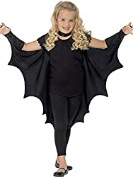 Kids Unisex Vampire Bat Costume, Perfect for carnivals, theme parties, Halloween, and all your costume make up needs Go batty! Perfect for any vampire or bat costume Easy to slip on and off thanks to sleeve attachment 100% Polyester, Hand-wash Conten...