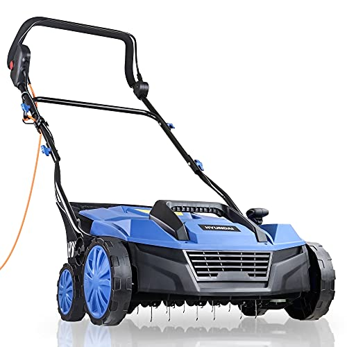 Hyundai 230v 1800w Electric Lawn Scarifier Aerator Lawn Rake 5 Easy Adjustable...