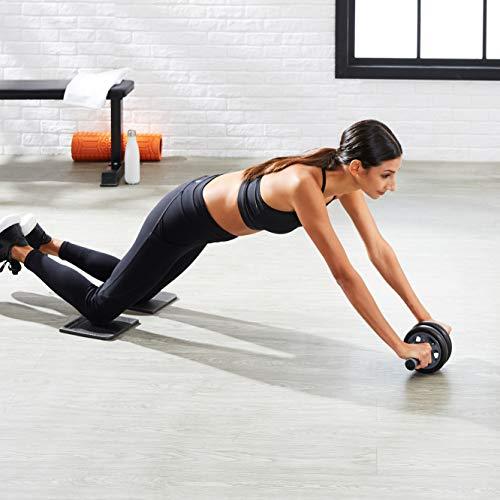 AmazonBasics - Ruota doppia per allenare gli addominali, con tappetino per le ginocchia