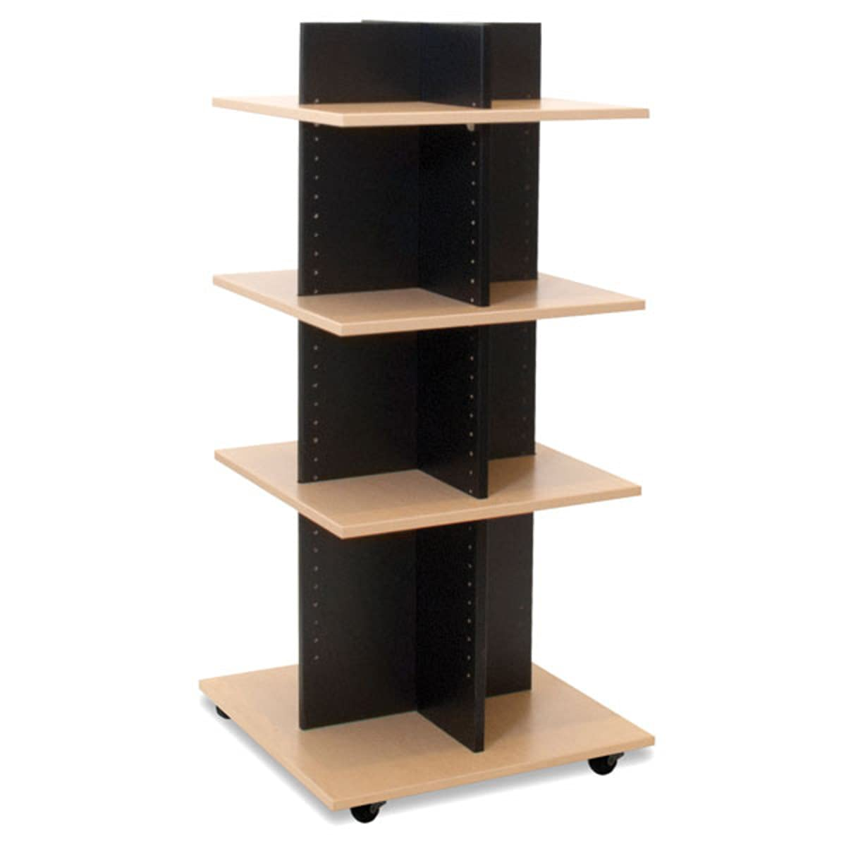 Shelf Tower Knock Down in Black Selling and selling with Shelves W x Maple 24 OFFer D