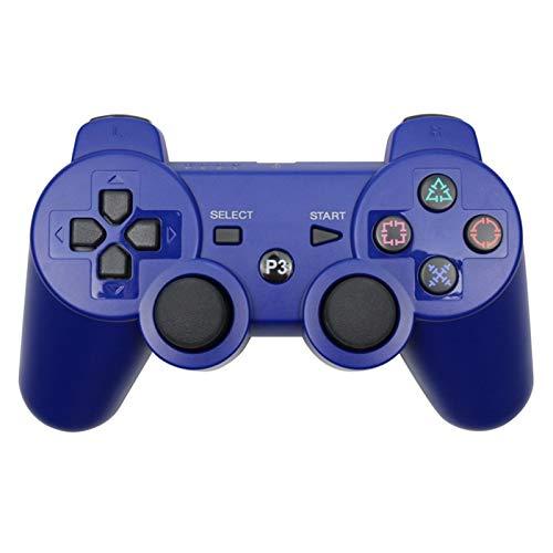 KPBHD Controlador de Bluetooth for Sony PS3 Gamepad, Usado for Play Station 3 Joystick inalámbrico (Color : Blue)