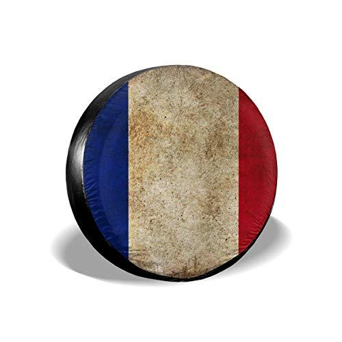 EU Frankreich Flagge 215 Zoll Reifenabdeckung Polyester Universal Reserverad Reifenabdeckung (14-17 in)