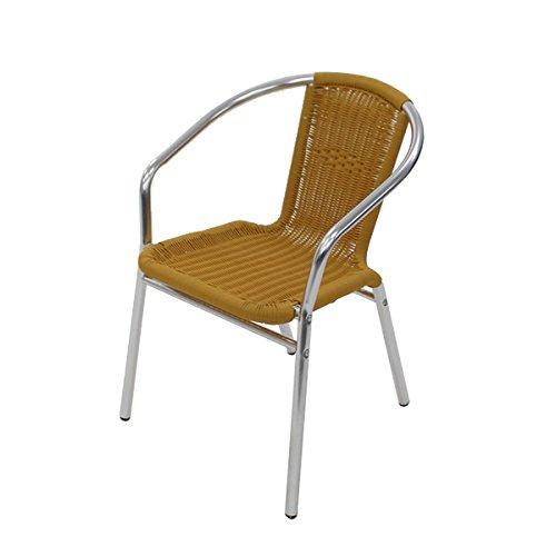 アルミチェア 1脚 人工ラタン ダイニングチェア リゾートチェア ロビーチェア ガーデンチェア ラタンチェア スタッキングチェア 会議椅子 ラウンジチェア 軽量で持ち運び簡単! ビーチチェア アルミチェア スタッキング アウトドア リゾート ラタン (人工