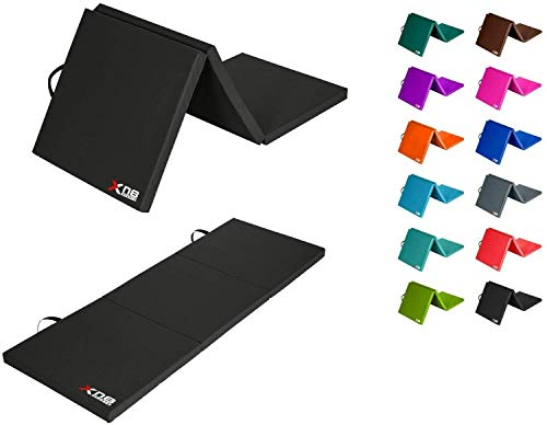XN8 Tri-Fold Folding 2.4' Thick Exercise Mat with Carrying Handles For...