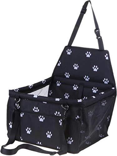 WiseGoods - Seggiolino auto per cani di piccola taglia, con cintura di sicurezza, sedile posteriore e sedile anteriore, estremamente resistente e facile da installare, nero