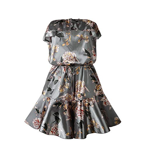 Floridivy Sexy Hollow Back Ruffle Floral zomer holle rug playsuit, dames Pattern Jumpsuit Vrouwen Schouder-off Playsuit