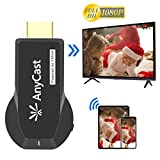 Wireless Display Dongle Streaming Media Player from Phone to Big Screen HDMI WiFi Adapter for TV Projector Compatible with iPhone Android Windows 8.1 10 Device