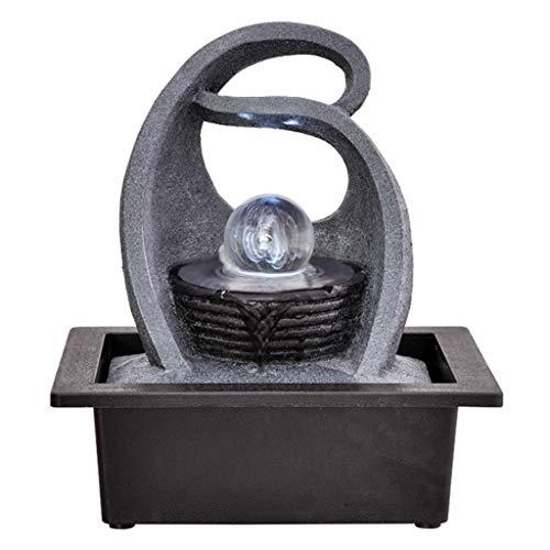 jinyi2016SHOP Fuente Decorativa Fuente Decorativa de Resina Fuente de Interior Decoración de Escritorio Creativa Estatua Montaña Piedra Feng Shui Fuente Fente Cascada (Color : C)