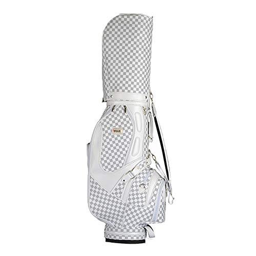GolfschläGertasche, Wasserdichtes Pu-Leichtgewicht Tragetasche Von GolfschläGern 5 Grid 13-14 Clubs Mit SchirmstäNder,Tragbare Golf-Tasche FüR Herren Und Damen