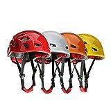 rongweiwang Faire du vélo en Plein air Casque de Protection Escalade Arbre Spéléologie Kayak Escalade Rescue Hard Hat Couleur aléatoire