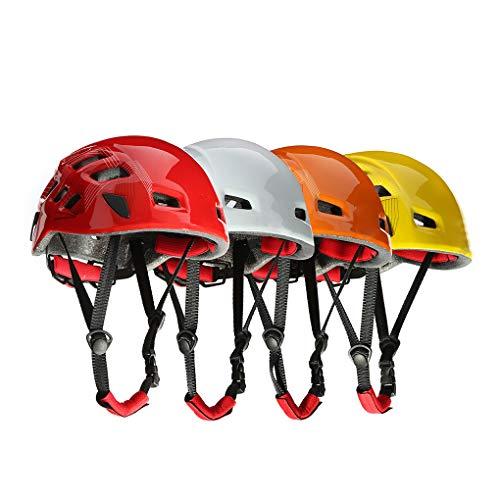 rongweiwang Protector de Ciclo al Aire Libre Casco Escalada Espeleología Kayak árbol Rappel Rescate Casco de Color al Azar