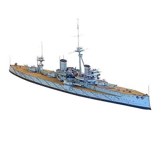 JHSHENGSHI Militär Papier Puzzle Modell Spielzeug, 1/400 USS HMS Dreadnought Flugzeugträger Kinderspielzeug und Geschenke, 15,7 Zoll X2,5 Zoll