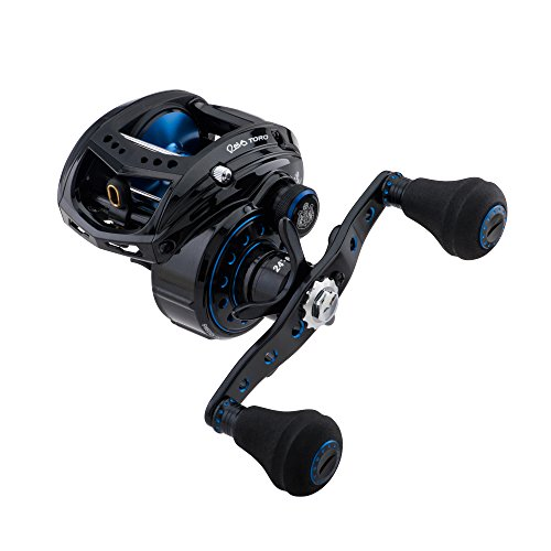 Abu Garcia REVO T2 BST60 Revo Toro Beast Low-Profile Baitcast Fishing Reel, 60 - Right-Handed, Blue,Back