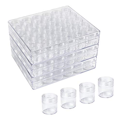 NBEADS 3 Sets Cajas de Almacenamiento de plástico Transparente de 30 Piezas/Caja con Tapa Redonda para Herramientas de decoración de uñas, Almacenamiento de Piezas pequeñas, Organizador de Joyas