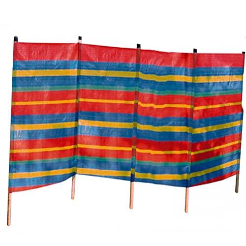 Acan Solmar - Paravientos para Playa 400 x 120 cm. Protector de Viento de Rafia 4 Paneles, Playa, Acampada, Camping y jardín