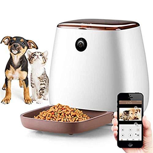 CHANMI Alimentatore Automatico di Gatto con 1080P HD Macchina Fotografica di WiFi, Intelligente Feed Auto Pet Food Dispenser per Cani e Gatti, 12-pasto (3.3L)