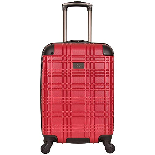 Ben Sherman Nottingham 20' Embossed PAP 4-Wheel Upright Carry-On in Red