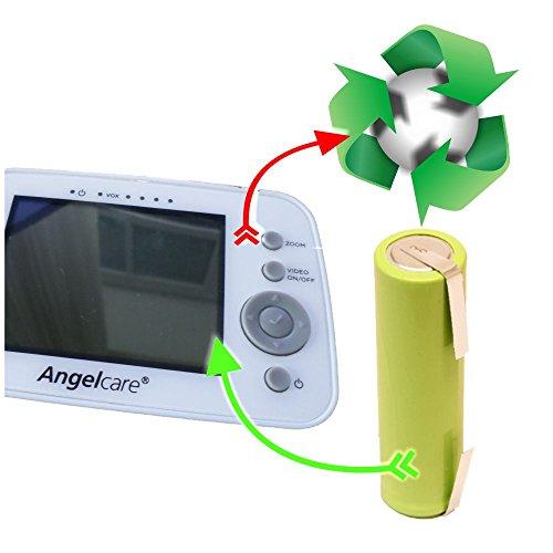 akkutuaschen.de Akkuwechsel Akkutausch Battery Exchange kompatibel u.a. mit Angelcare Babywächter u.a. AC1300 D AC517 D AC201 R - AC300 D - AC420 D - AC403 D - AC423 D