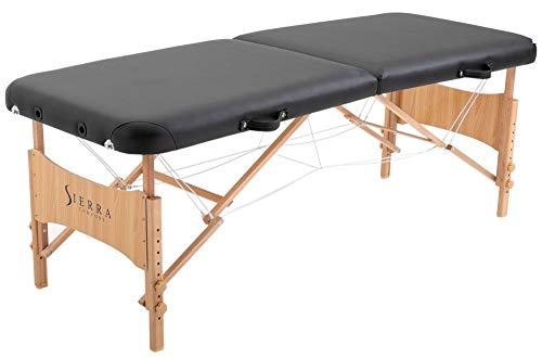 SierraComfort Basic Portable Massage Table, Black