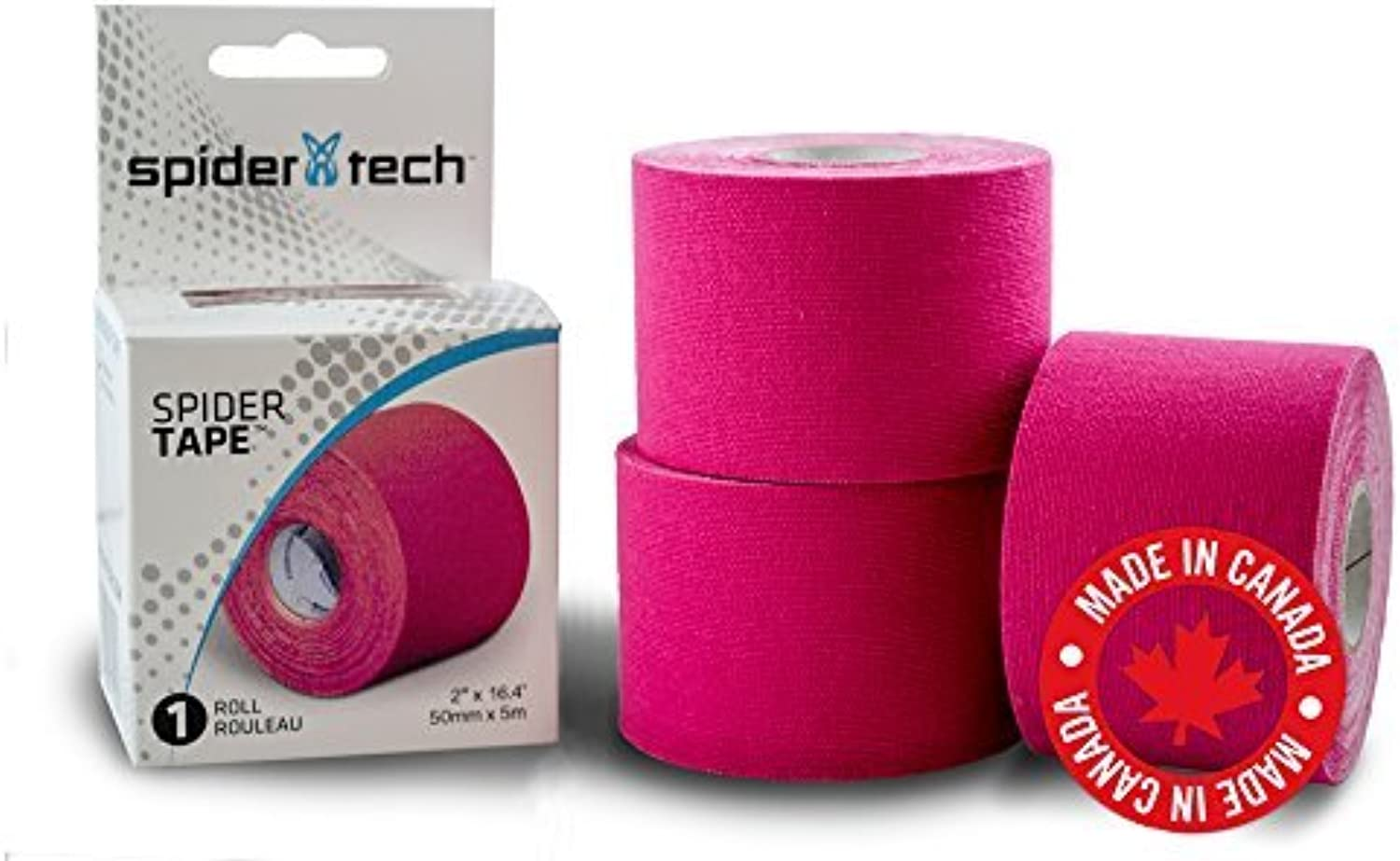 (Pink) - SpiderTech Kinesiology Sports Tape Roll (Pink)