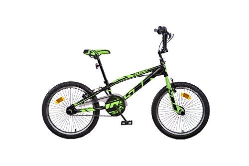 Dino Bikes- Vélo Freestyle Garçon Marque Dinobikes 20 Pouces de 6 à 9 Ans, 346S Nero/Verde, Noir/Vert