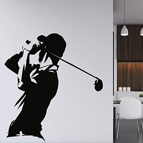 FXBSZ Anpassbare Wandaufkleber Vinyl-Dekorationsaufkleber für Gym Golfspieler Gym Club Wanddekoration Aufkleber Mode Wandaufkleber Grau 70 cm x 77 cm