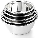 Utensilios de Cocina de Acero Inoxidable 5pcs / Set de Acero Inoxidable del Recipiente de Mezcla Cocina Conjunto Vegetal de la Fruta Bowl por Ensalada de Huevo Hornear tazón envases de alimento
