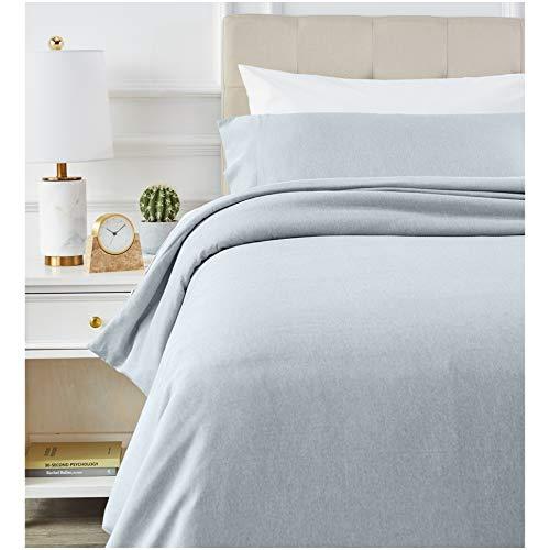 AmazonBasics - Juego de ropa de cama con funda de edredón, de microfibra, 135 x 200 cm, Vaquero(Denim Wash)