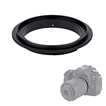 58mm Macro Lens Reverse Ring Adapter for Canon EOS Rebel T6 T7 T5 SL3 SL2 T8i T7i T6i T6s T5i 2000D 4000D 90D 80D 70D with EF-S 18-55mm Kit Lens & More Canon DSLR Cameras with 58mm Filter Thread Lens