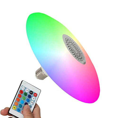 XMYX LED Glühbirne E27 30W Music Bulb Light Bluetooth Speaker RGB Lamp Wireless Music Bulb Farbwechsel Lamp mit Fernbedienung und Lautsprecher für Home Stage Bar Party Festival Dekoration